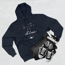 Load image into Gallery viewer, Outfit set with black jeans, black shoes, and navy hoodie with a quote I am meant shine