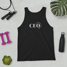 Load image into Gallery viewer, Black tank top with a quote CEO of My Own Life