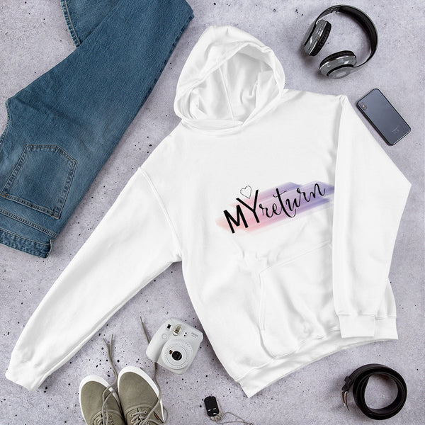 Women's White Hoodie - My Return Logo