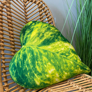 pothos leaf pillow