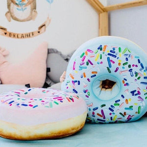 big donut mint pillow