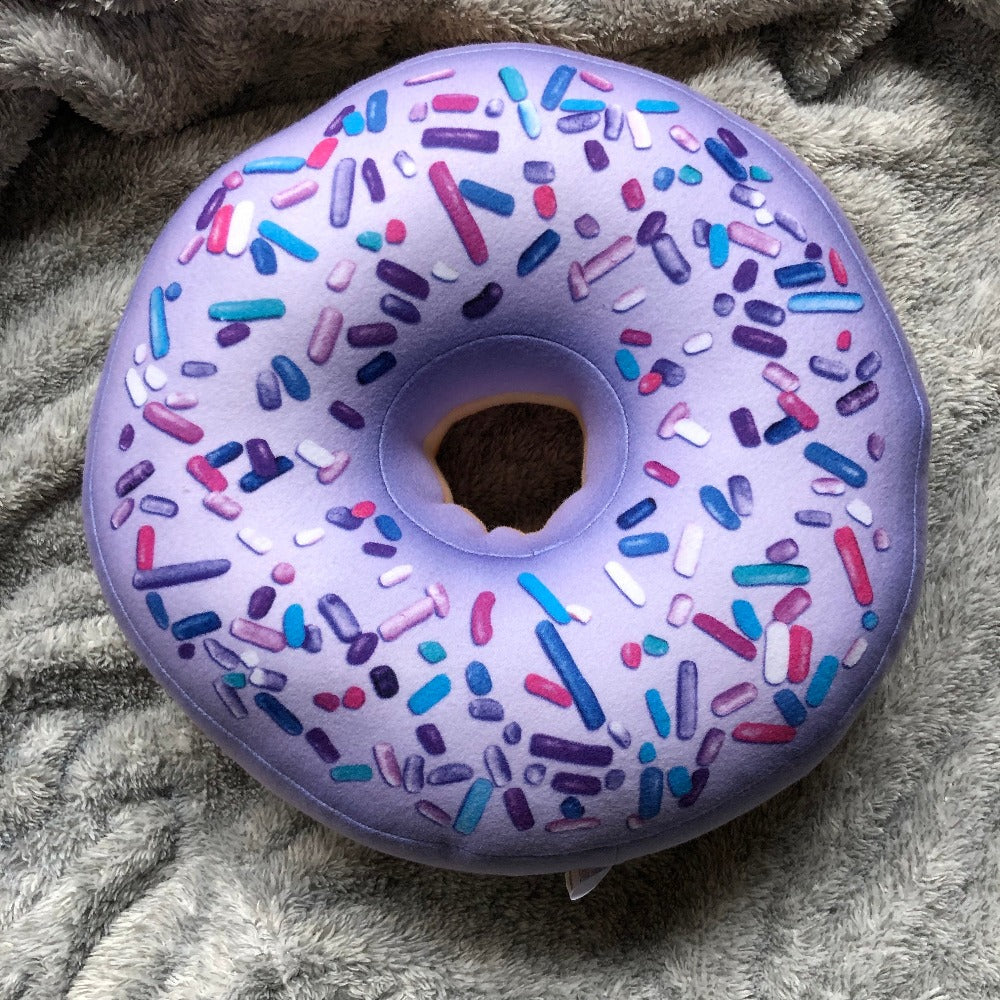 purple giant donut pillow