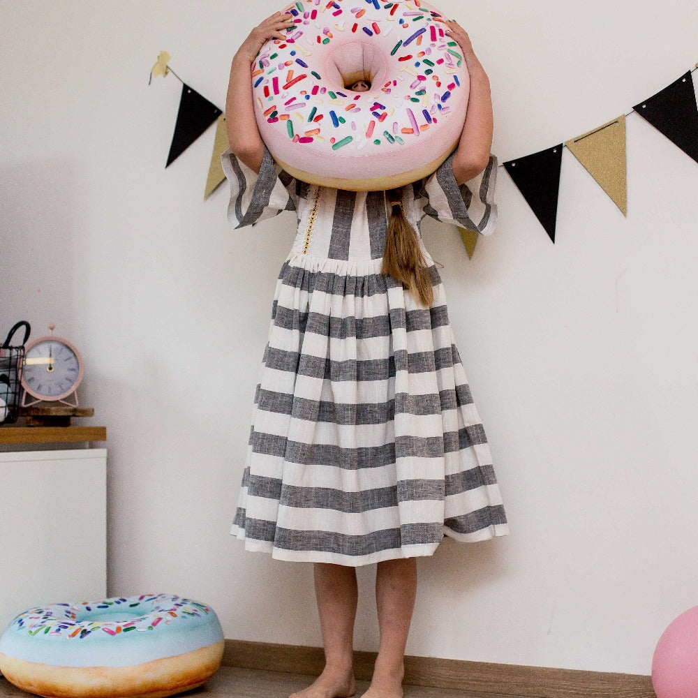 giant pink donut pillow