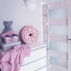 pink donut pillow
