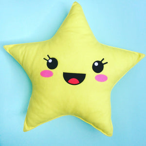 kawaii star pillow