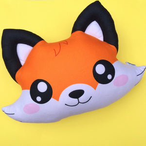 kawaii fox cute pillow