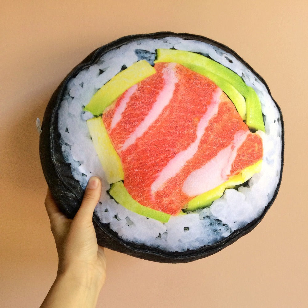 plush sushi pillow
