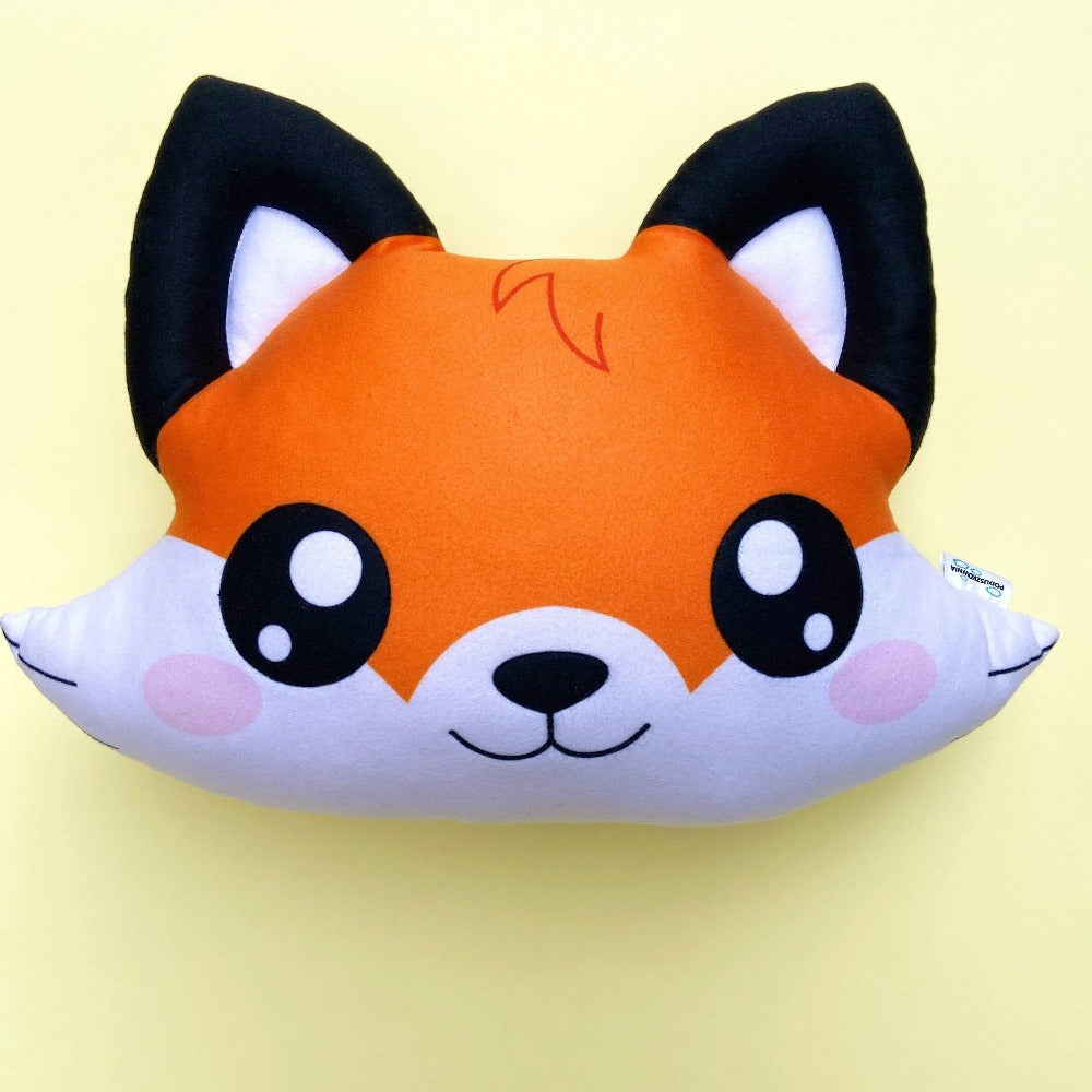 kawaii fox pillow