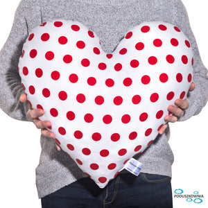 dots pillow heart