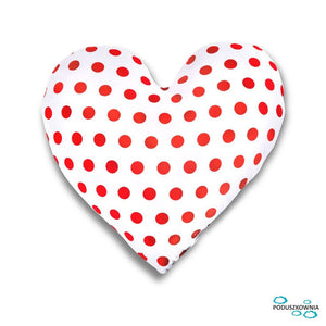 heart dots pillow