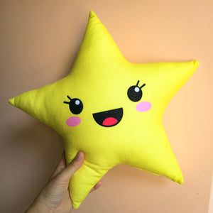 kawaii cute star pillow