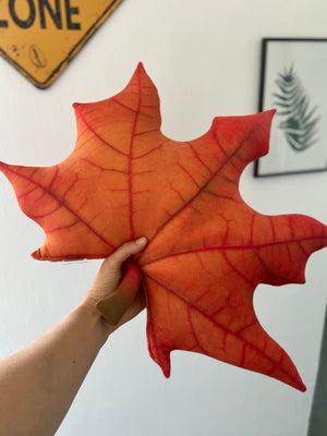 Leaf Pillow / Maple pillow / Fall Leaves Pillow / autumn pillow