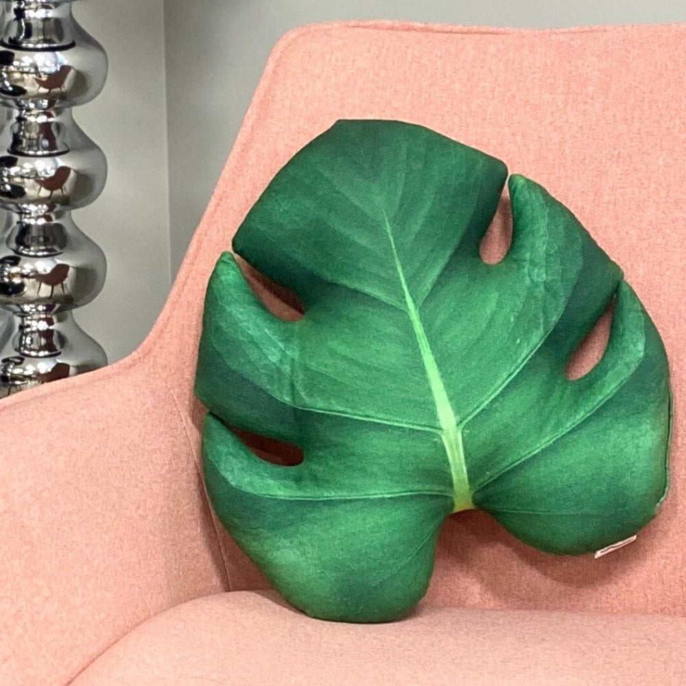 Monstera Leaf Pillow