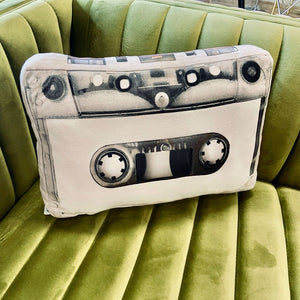 oldies gift cassette pillow