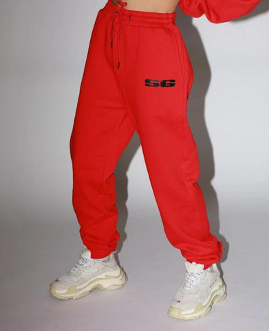 LOGO SWEATPANTS - RED