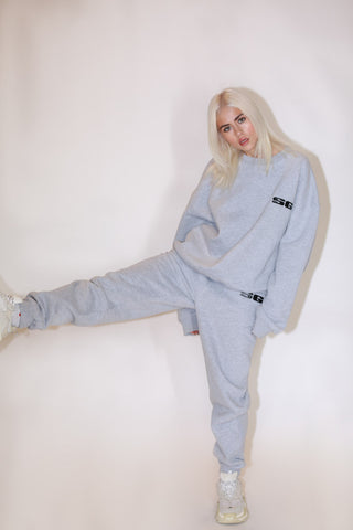 LOGO SWEATPANTS - GREY