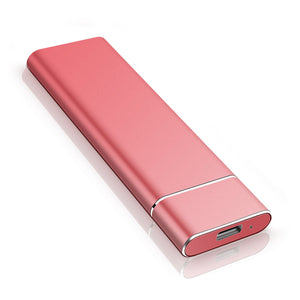 Ultra Slim 1tb 2tb portable external HDD - red