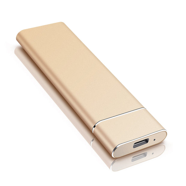 Ultra Slim 1tb 2tb portable external HDD - gold