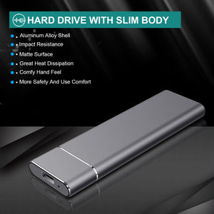 OTCPP External Hard Drive Slim Type-A/Type-C - P1 Series