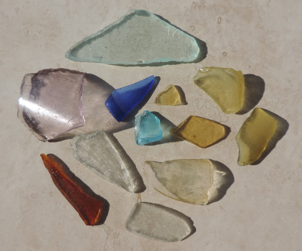 These pieces of glass where found by Lisl Armstrong in Puerto Rico.