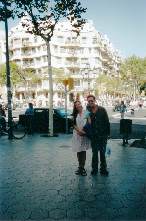 Ronnie and Lisl in Barcelona, Spain.