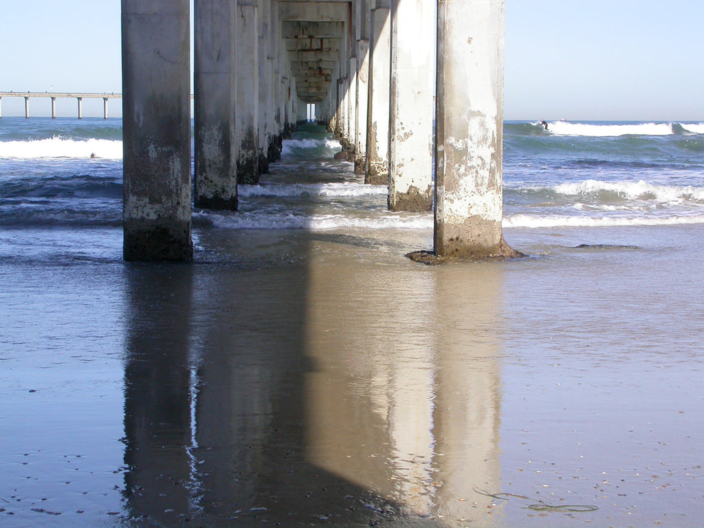 This image is of the Ocean Beach Pier in Pcean Beach, San Diego.
