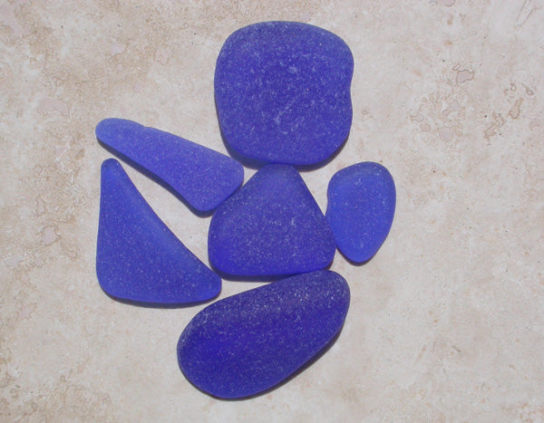 Cobalt blue sea glass from Rincon, Puerto Rico.