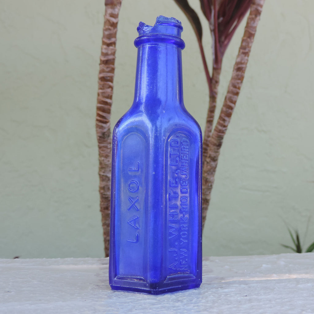 This Laxol bottle was found in a stream in Rincon, Puerto Rico that empties out into the sea.