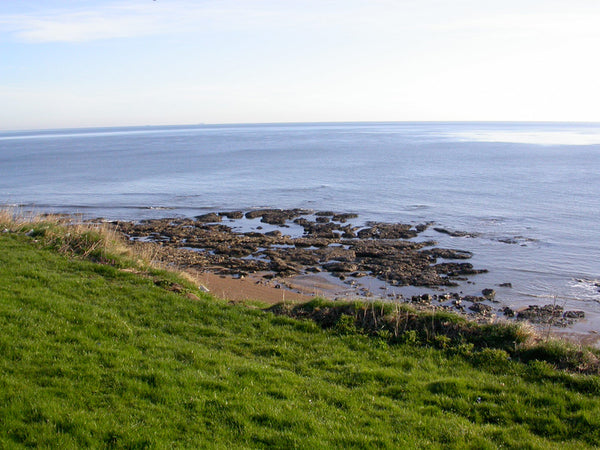 The North Sea off of the coast of Seaham, England.