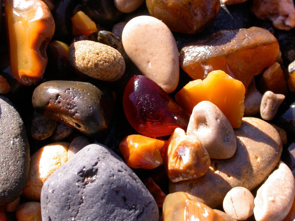 Sea glass in all colors washes up on the beaches of Seaham, England. Most of the sea glass found in Seaham, England comes from scrap glass from the Londonderry Bottleworks.