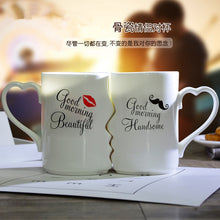 Load image into Gallery viewer, 1 Pair Valentines day Gift Kissing Porcelain Tea Cup Gift for girlfriend boyfriend gift  wife husband anniversary present