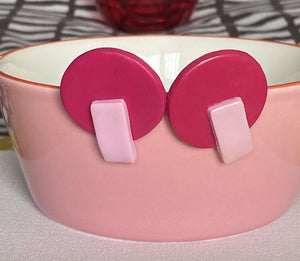 Pretty in pink stud earrings