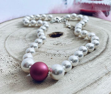 Swarovski Mulberry Pink pearl necklace