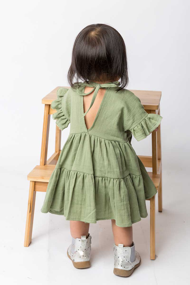Cotton Muslin Ruffle Dress – Sweet Pea