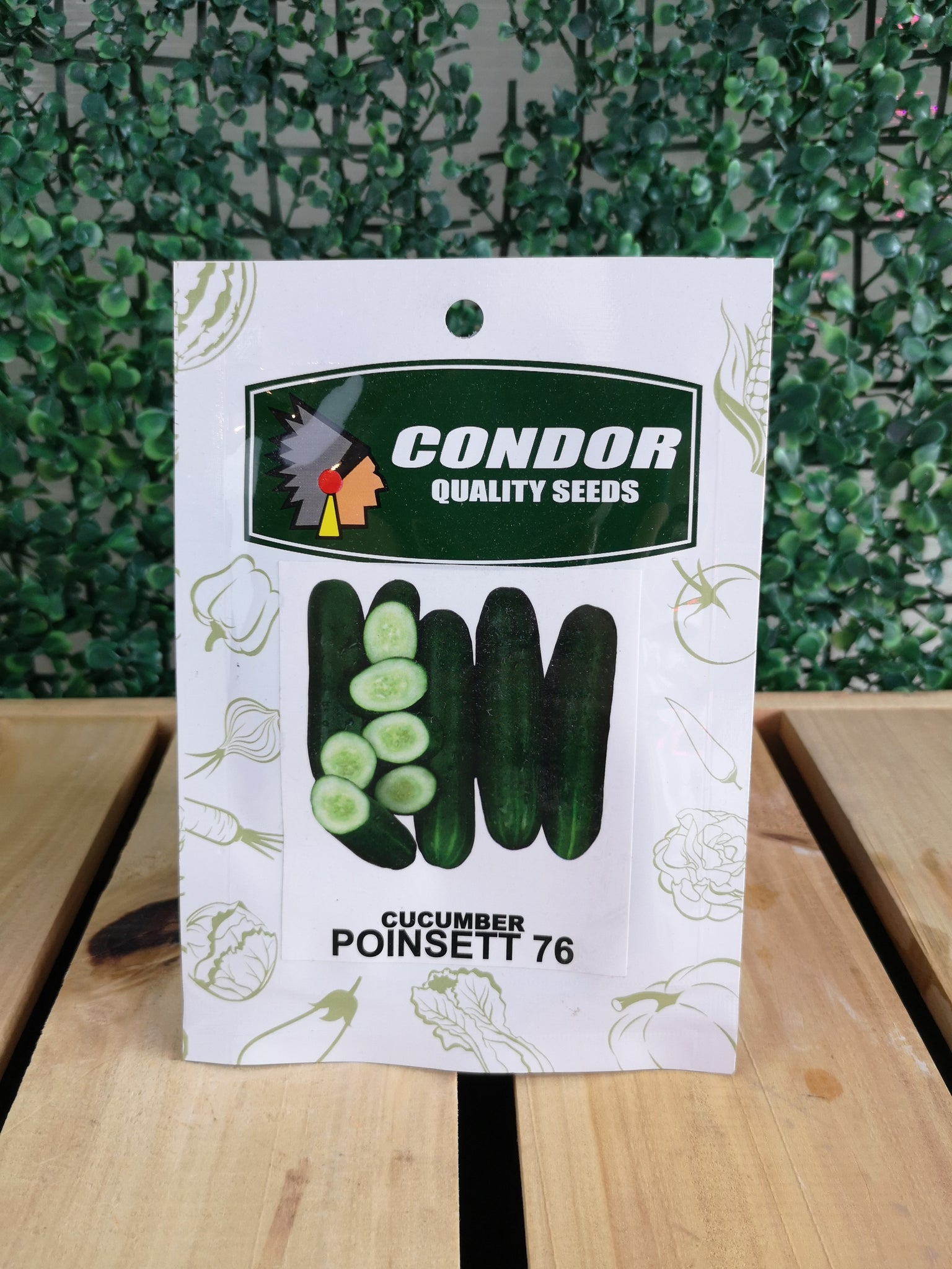 Condor Quality Seeds Cucumber Poinsett 76 3 grams