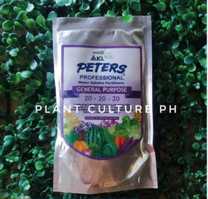 Peters Professional Water Soluble Fertilizer General Purpose 20-20-20 100g by Plant Culture PH