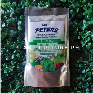 Peters Professional Water Soluble Fertilizer Hi-Nitro 30-10-10 100g by Plant Culture PH