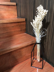 Sophia Dried Flower Arrangement with Black Nordic Vase