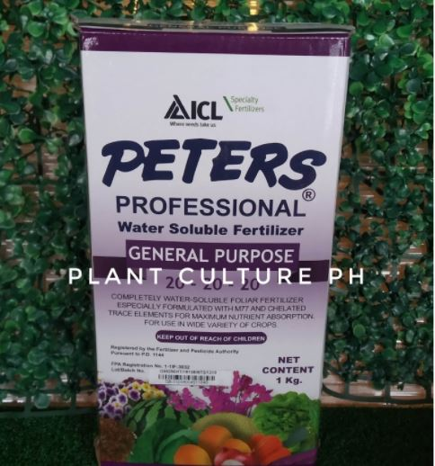 Peters Professional Water Soluble Fertilizer General Purpose 20-20-20 by Plant Culture PH