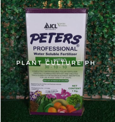 Peters Professional Water Soluble Fertilizer Hi-Nitro 30-10-10 1kg by Plant Culture PH