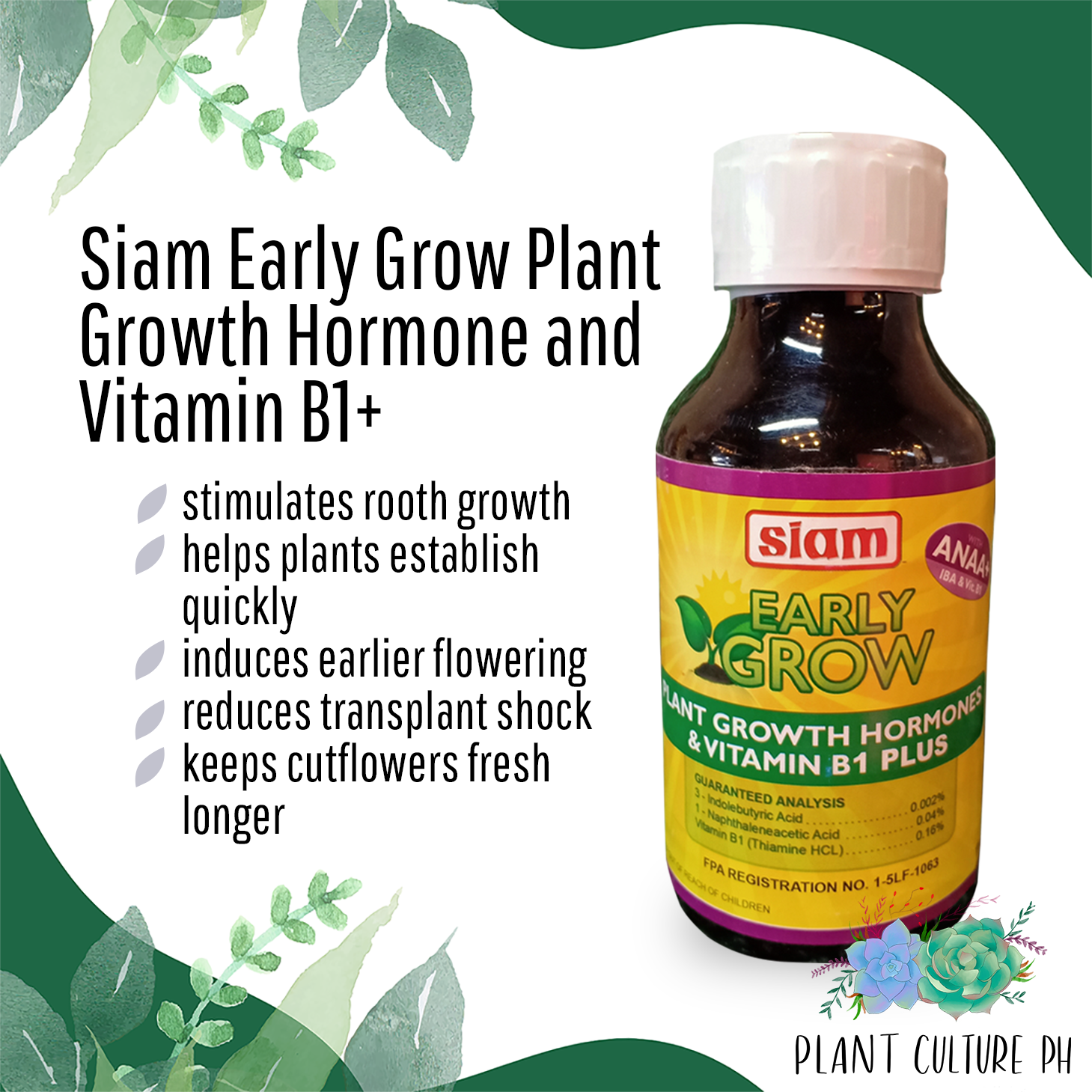 Siam Early Grow Plant Growth Hormone and Vitamin B1+