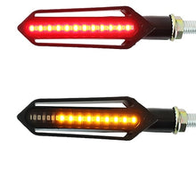 Load image into Gallery viewer, Motorcycle Turn Signals Tail Light LED Flowing Water Flashing Blinker Brake/Running Light
