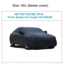 Load image into Gallery viewer, X Autohaux Universal Black Breathable Waterproof Fabric Car Cover