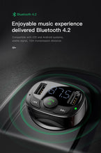 Load image into Gallery viewer, Baseus FM Transmitter Handsfree Bluetooth Car Kit MP3 Player