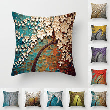 Load image into Gallery viewer, Nordic Style Oil Painting Cushion Cover Polyester Sofa Throw Pillow Car