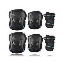 Load image into Gallery viewer, 6pcs/set Skateboard Ice Roller Skating Protective Gear Elbow Pads
