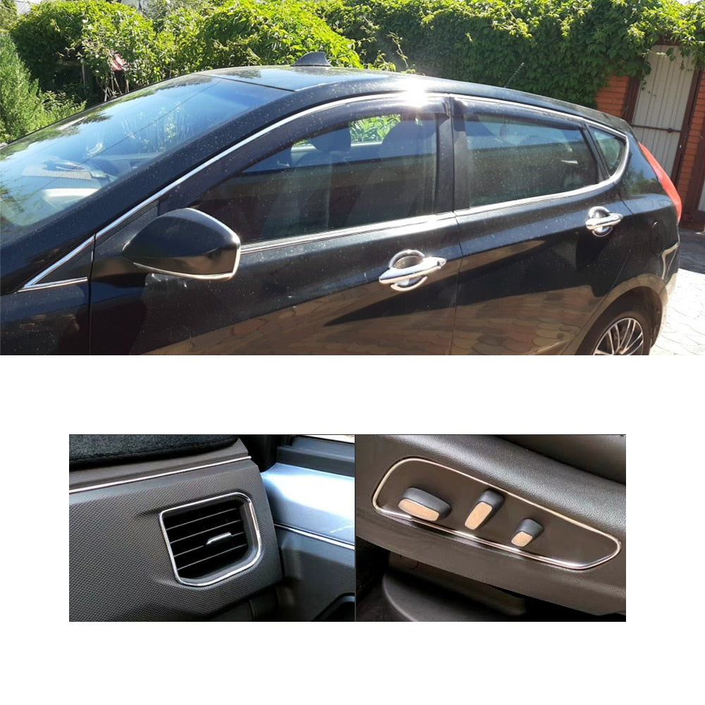 Car Styling Auto Self Adhesive Side Door Chrome Strip Trims