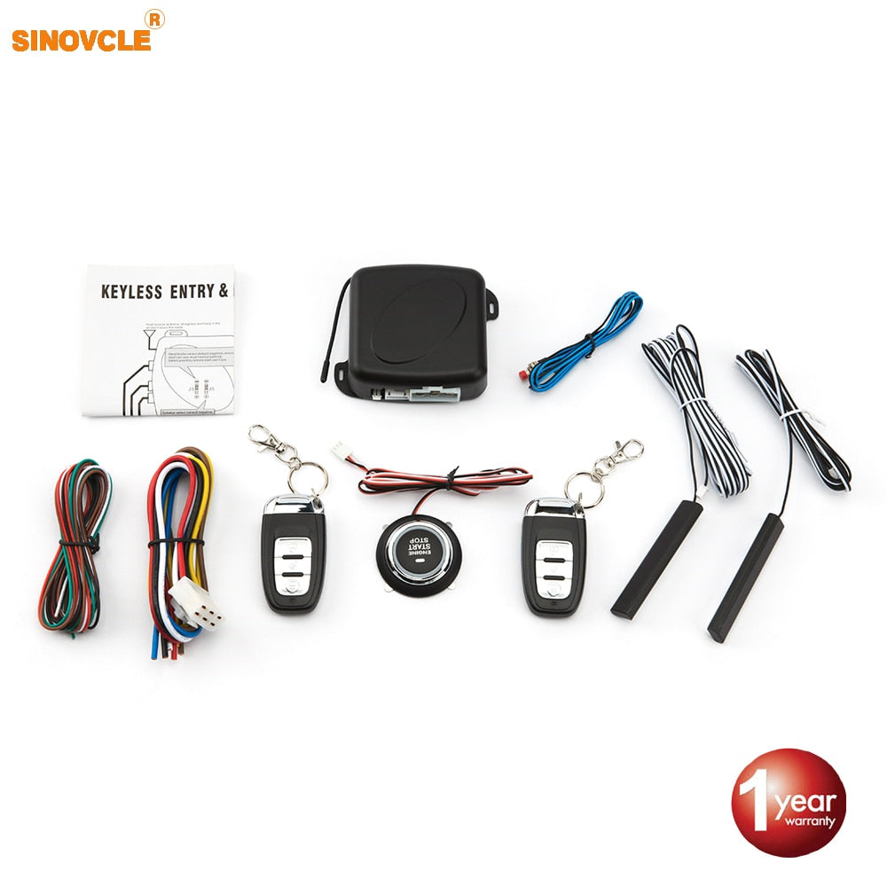 Sinovcle Car Alarm Remote Control start and Keyless Entry