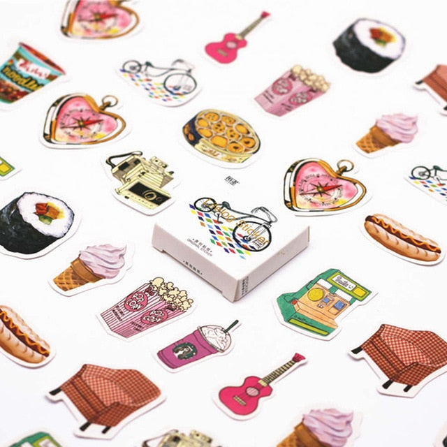 40 Pcs Pack Japanese Island Toy Stickers for Car Styling