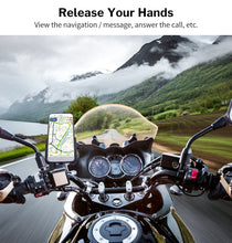 Load image into Gallery viewer, Deelife Motorcycle Mobile Phone Holder With USB Charger QC 3.0